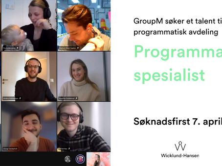 GroupM søker en Senior Programmatisk Spesialist