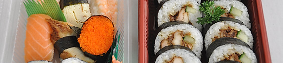 Sushi - Our award winning sushi is handmade and hand cut daily by our highly trained staff.