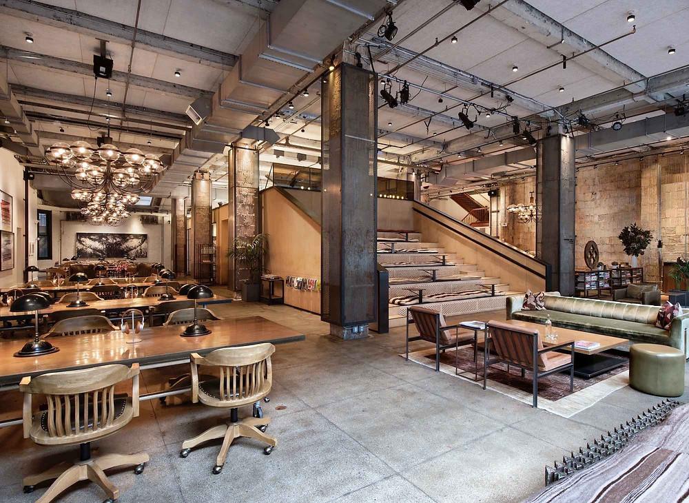 Espace de coworking industriel New-York location espace de travail haut de gamme