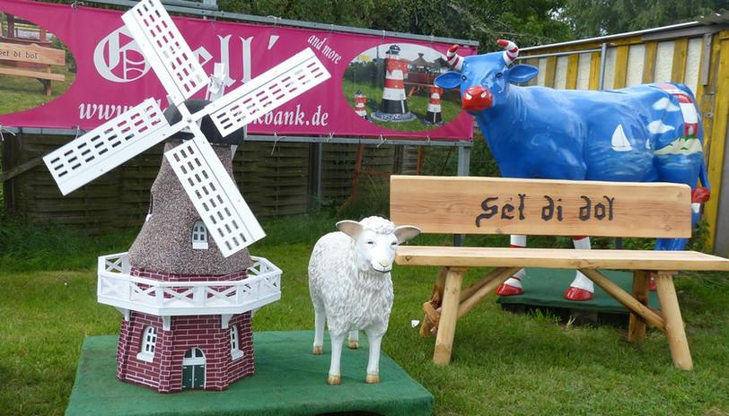 Mühle mit Schaf