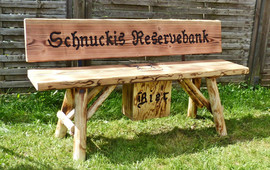 Schnuckis Reservebank + Bierkasten