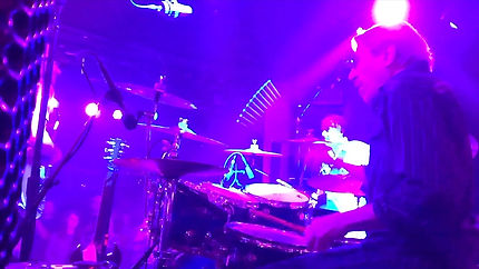 Paul Valentine on drums at Belly Up