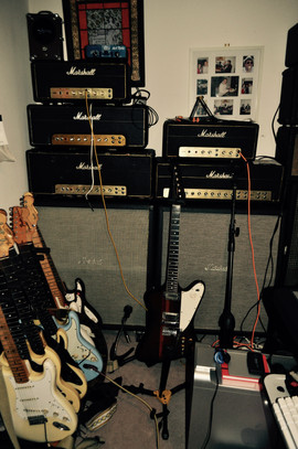 Inside the Loud Room - Various marshall heads inc. PA 20, 1959, JTM 45