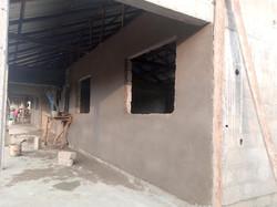 Windows and under roof walkway