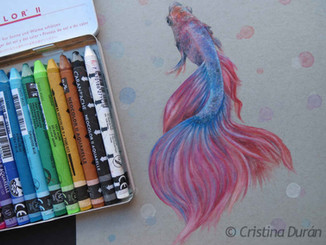 Watersoluble crayons