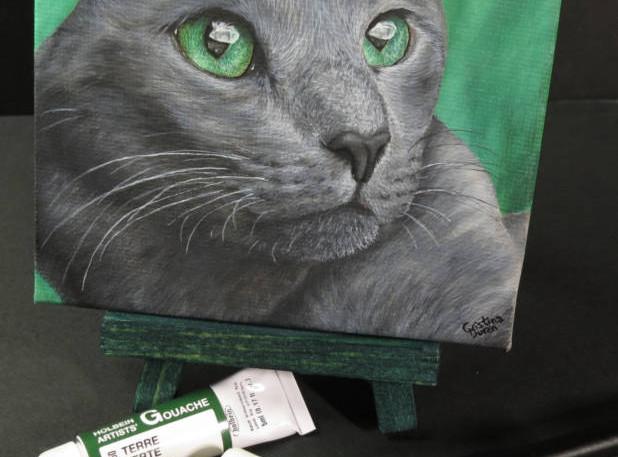 Gouache on mini canvas