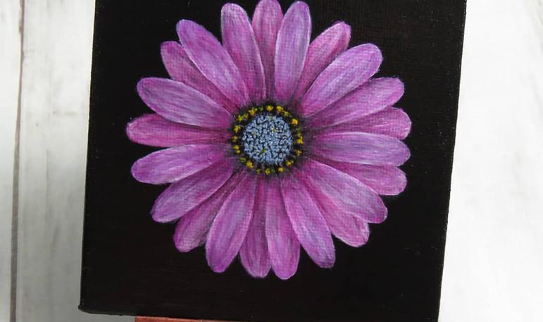 Acrylics on mini canvas