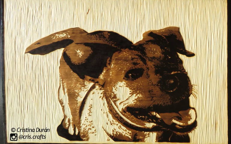Wood carving and pyrography