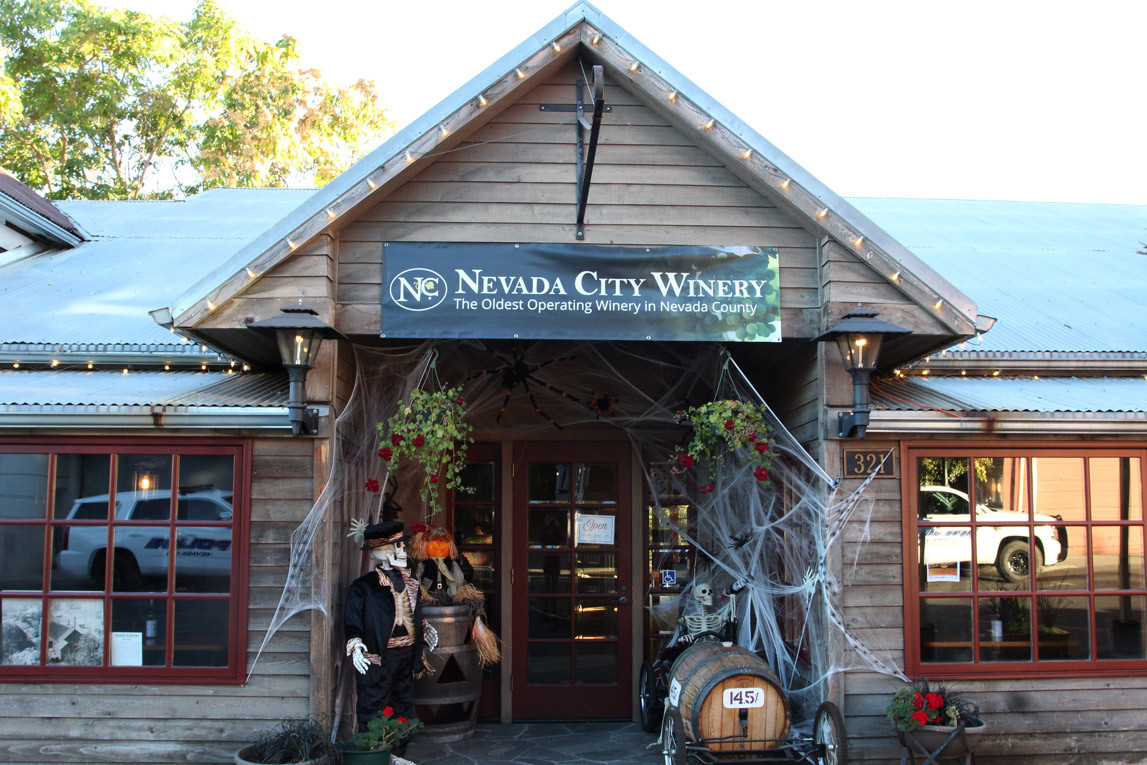 Nevada City Winery Spooky Front Entrance