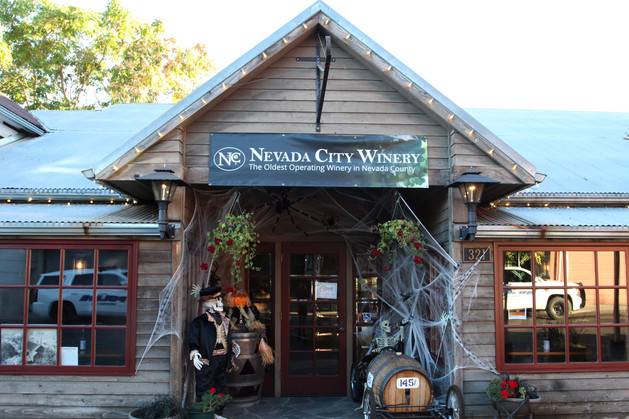 Nevada City Winery Spooky Front Entrance