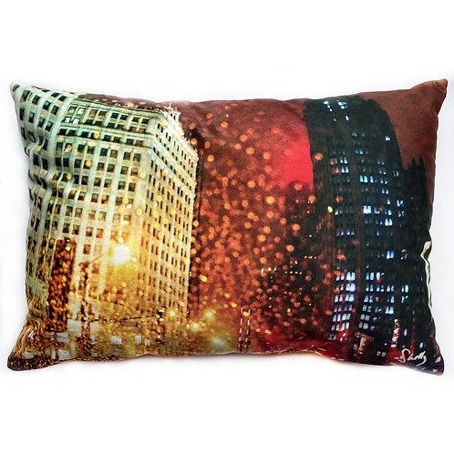 Michigan Avenue Original Art Pillow Shelly Lawler Pillow Collection