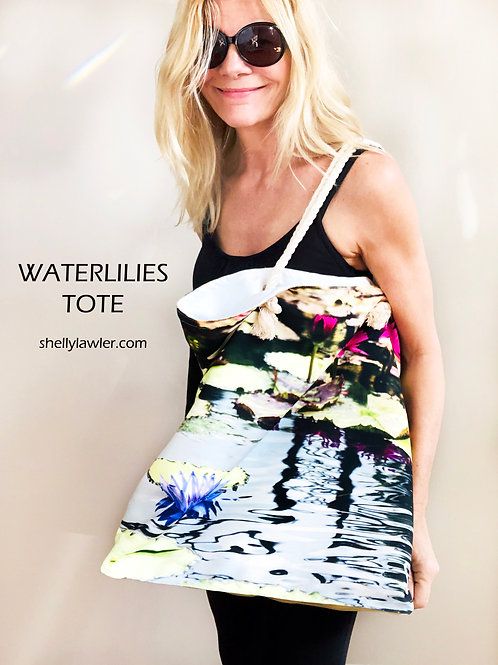 Shelly Lawler Waterlilies Tote Bag