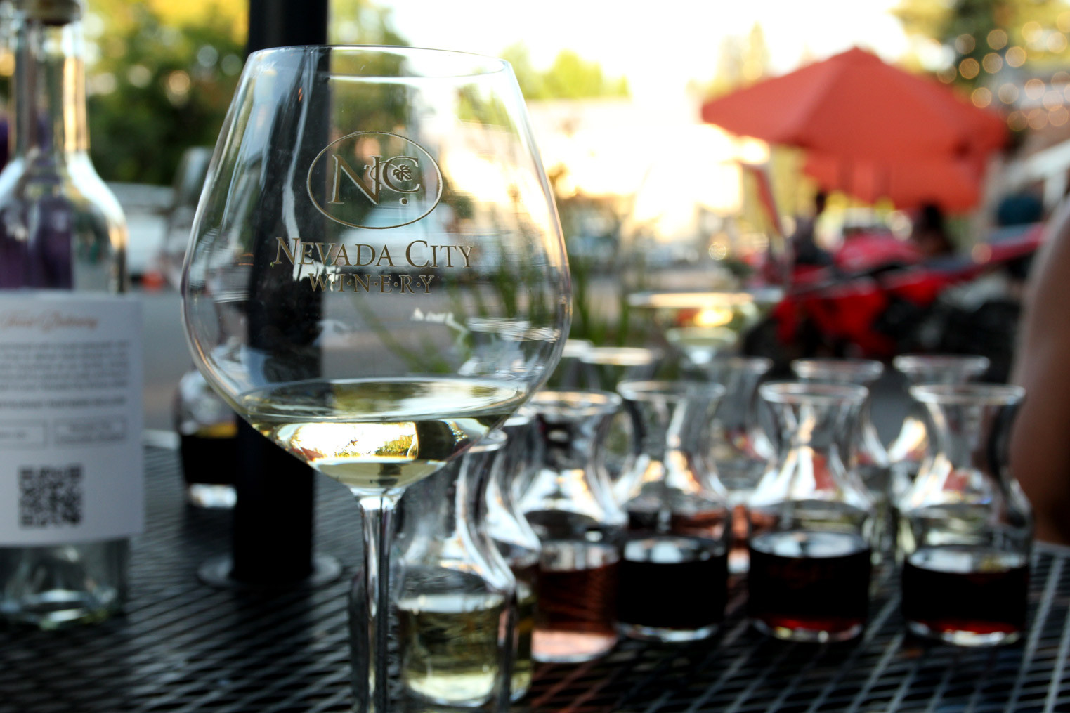 wine flight tasting