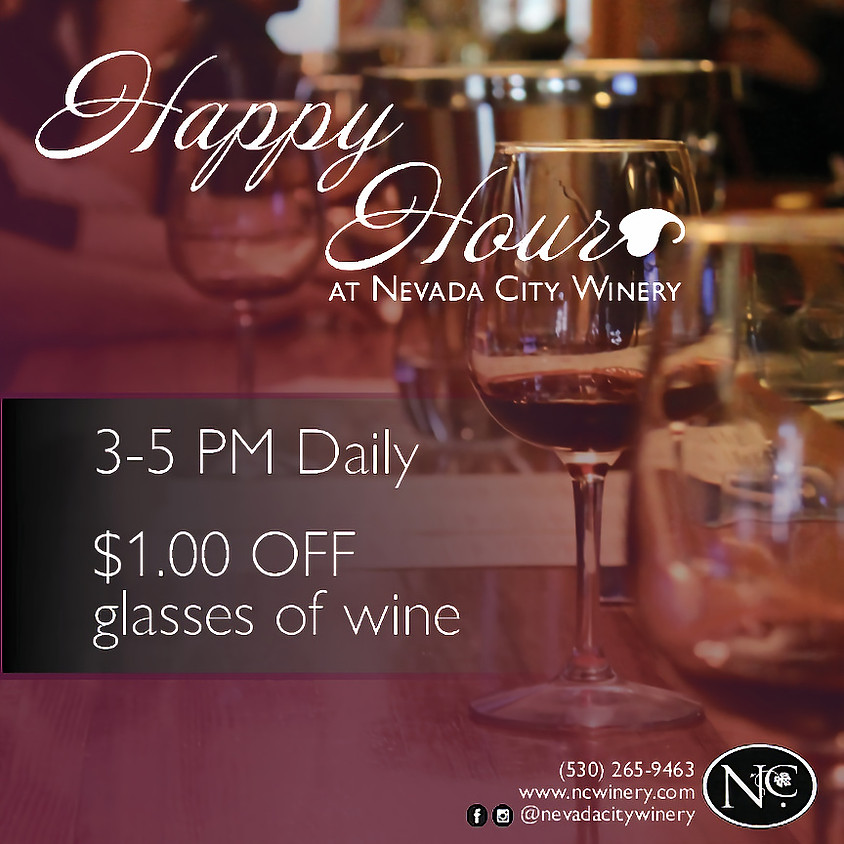 Happy Hour 3-5 p.m. Daily