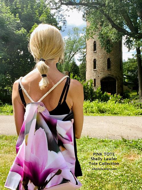 Shelly Lawler Designer Tote Pink Magnolia