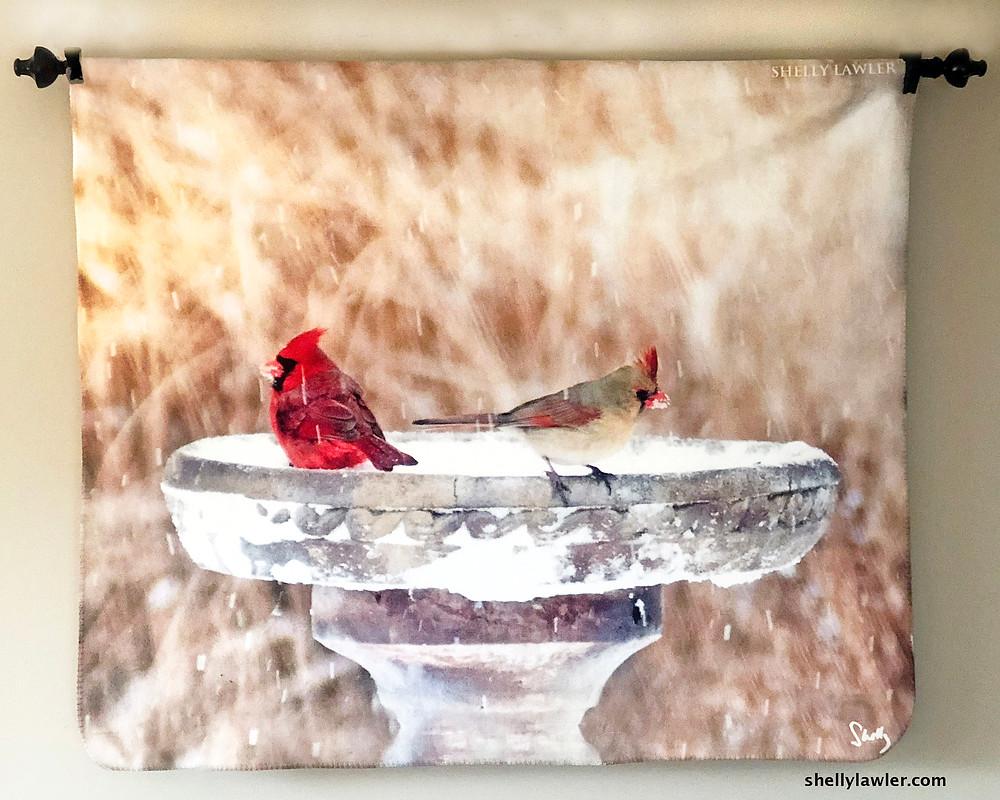 Cardinals Original Art Throw Shelly Lawler