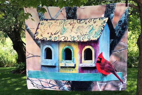 Cardinal Throw Shelly Lawler Collection