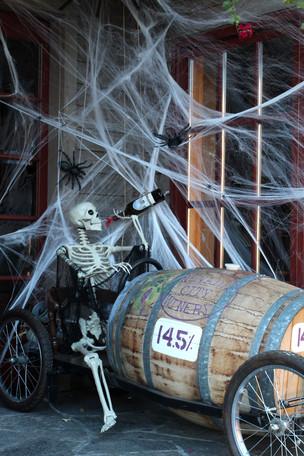 Halloween Window Display in Downtown Nevada City