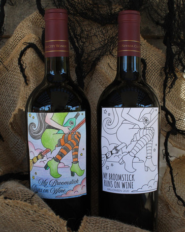 Color Your Own Custom Halloween Bottle Labels