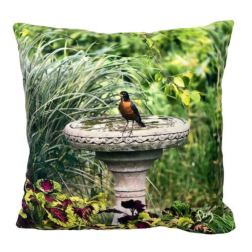 Original Art Robin Pillow Shelly Lawler Collection