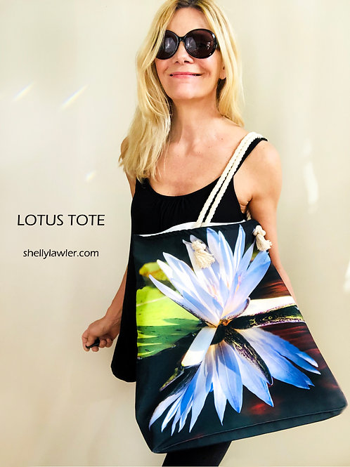 Lotus Tote Bag Shelly Lawler Collection