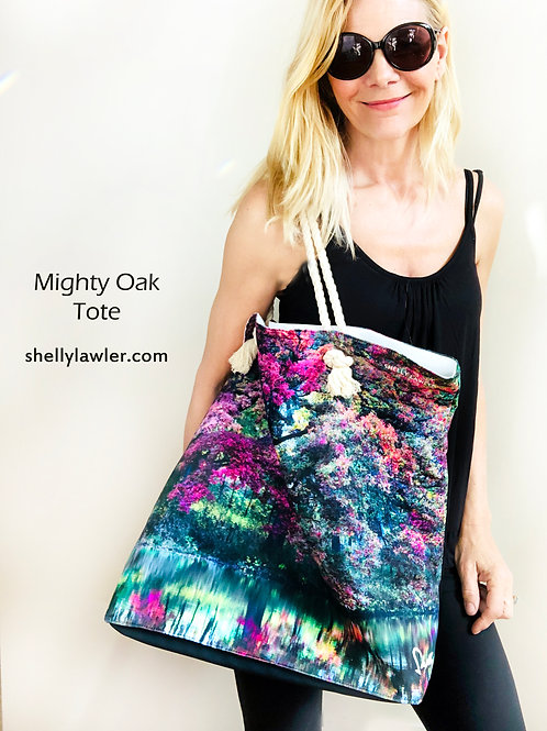 Mighty Oak Tote Shelly Lawler Collection front view