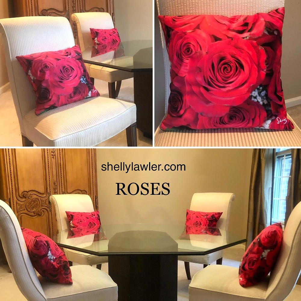 ROSES Art Pillow Shelly Lawler Collection