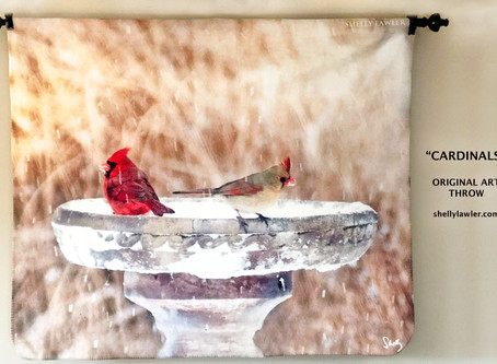 Cardinals Original Art Throw shelly lawler