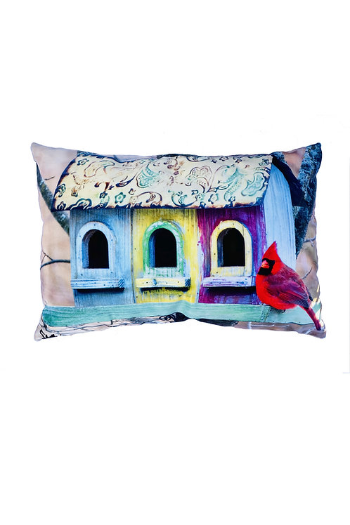 Cardinal Pillow by Artist Shelly Lawler