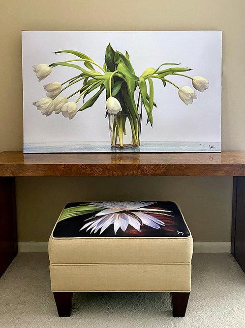 White Tulips 28x46 canvas