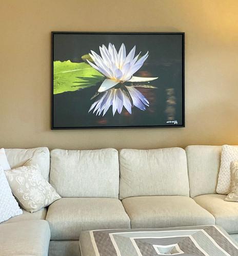 Lotus 36 x 46 canvas