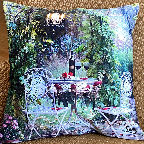 Garden Scene Pillow Shelly Lawler Collection