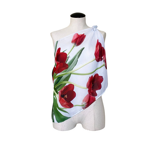 Red Tulips Scarf