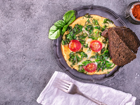 Wake Up Happy Basil Omelet :)