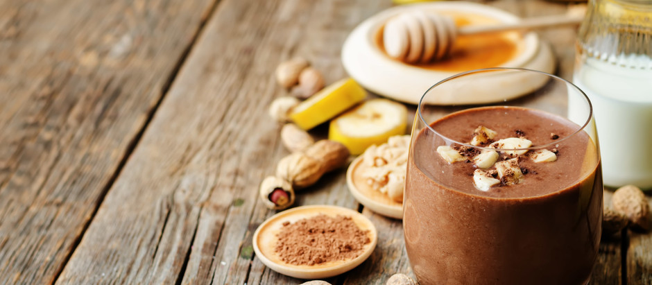 Yummy Peanut Butter & Chocolate Smoothie!