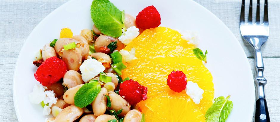 Bean & Raspberry Salad!
