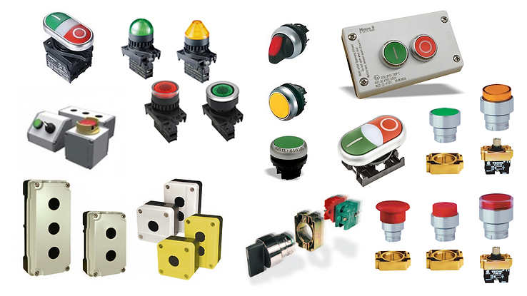 Botonería indutrial, paros de emergenca, lamparas piloto, botones pulsadores, cajas botoneras, botones selectores, ALTECH, MOELLER, AUTONICS