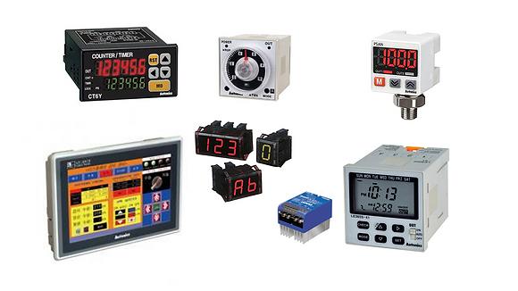 Controles de temperatura, contadores, controladores de sensores, controlador de potencia SSR, medidores de panel, medidores de pulso, modulo de entrada salida, temporizadores, unidades de display