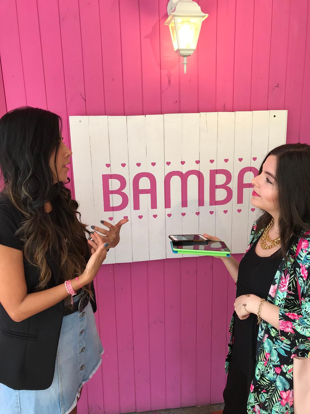 Sandra contándonos en Business à la mode su experiencia como emprendedora