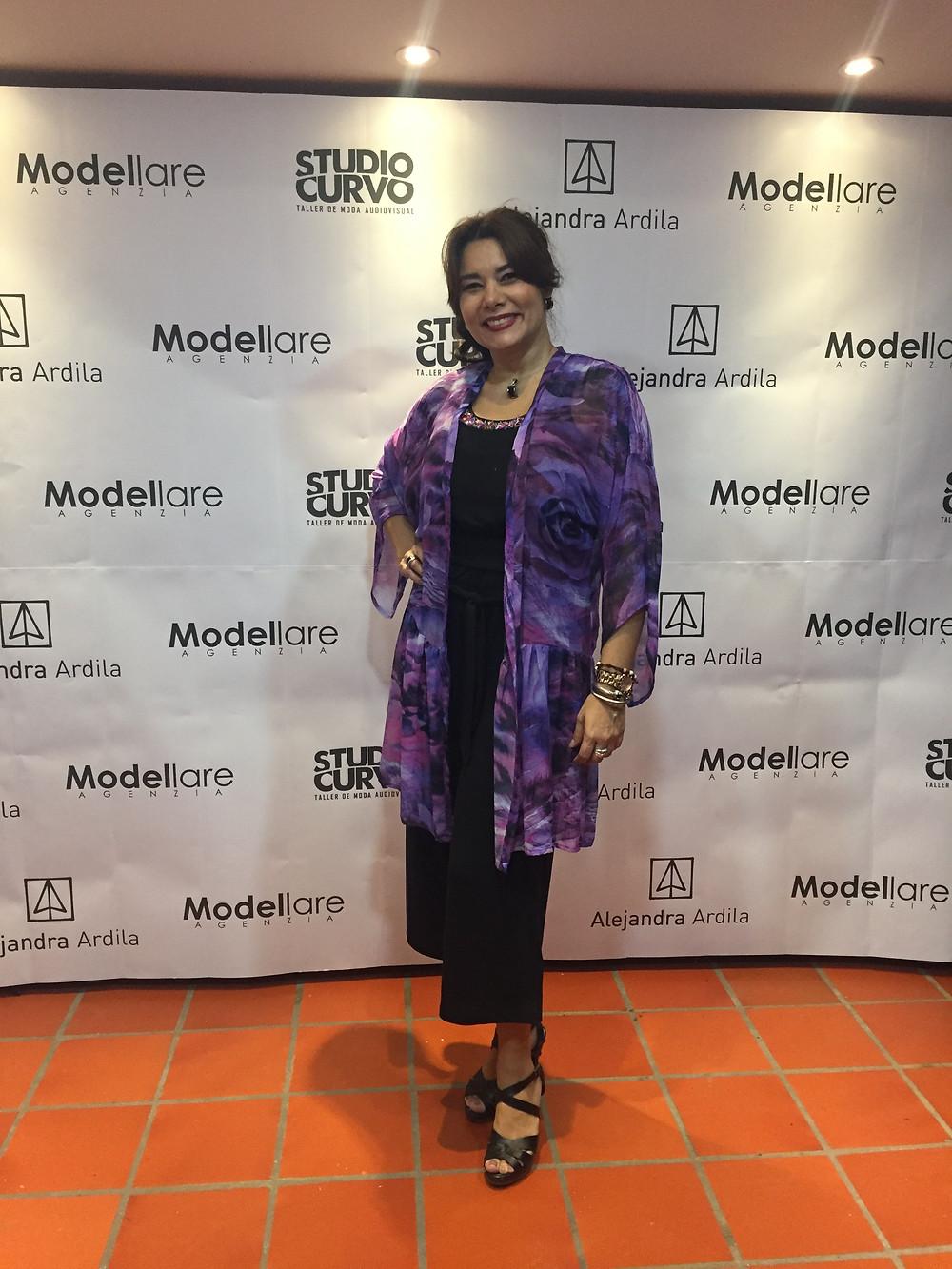 Mónica Gutiérrez vestida por Maliné-BG