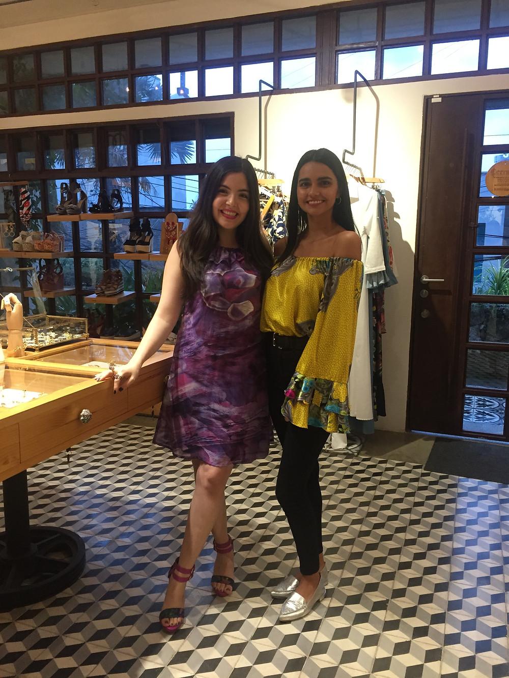 Natalia Mendoza editora de Business à la mode y Diana Delgado diseñadora