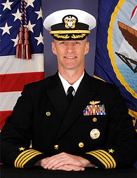 Captain John Brabazon, USN, Commanding Officer, NAS, Patuxent River, MD