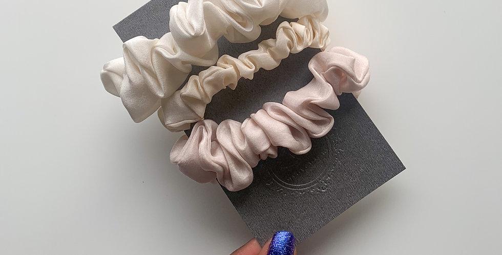 Cloud Silk Scrunchies