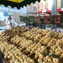 Garlic stall in Aix-en-Provence