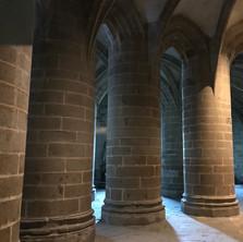 Inside the abbey at Mont Saint-Michel
