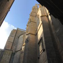 Outside the abbey at Mont Saint-Michel