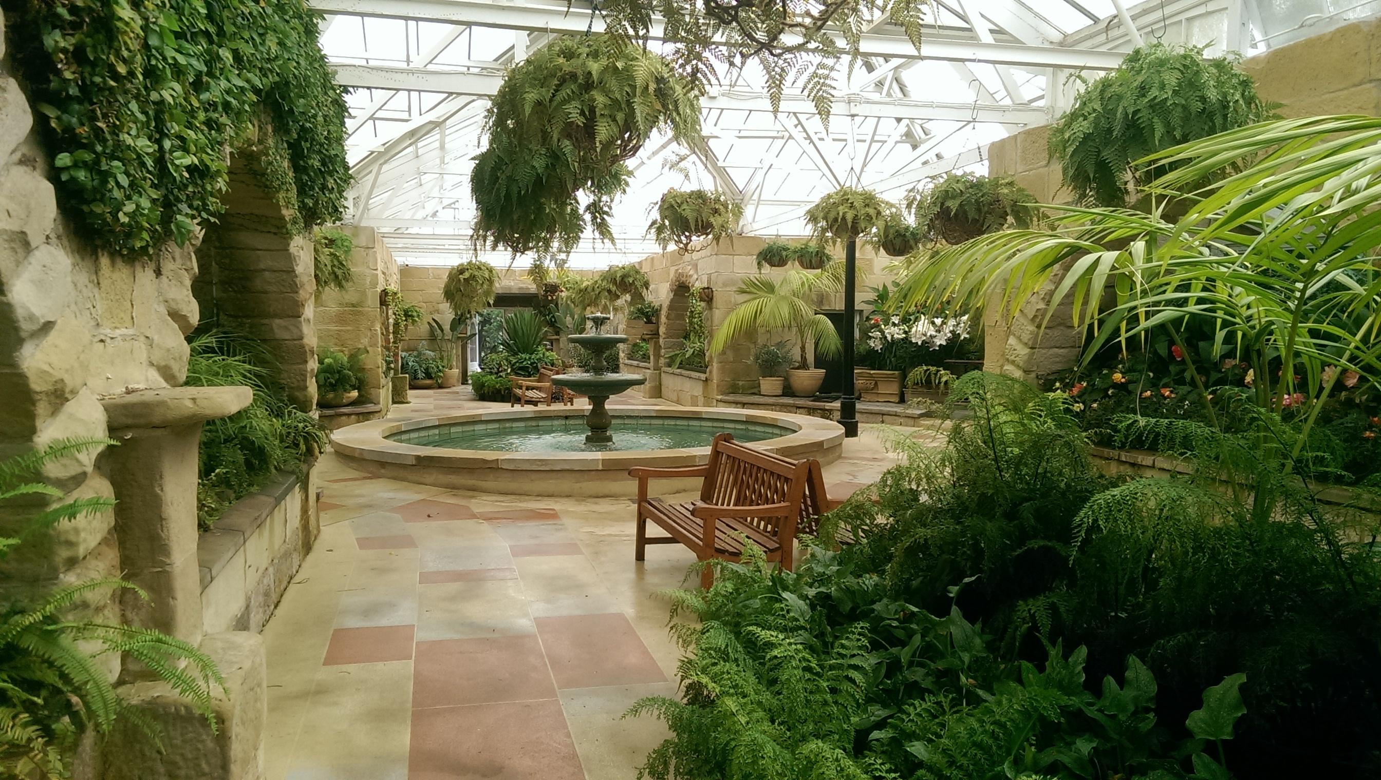 Botanical gardens conservatory venue