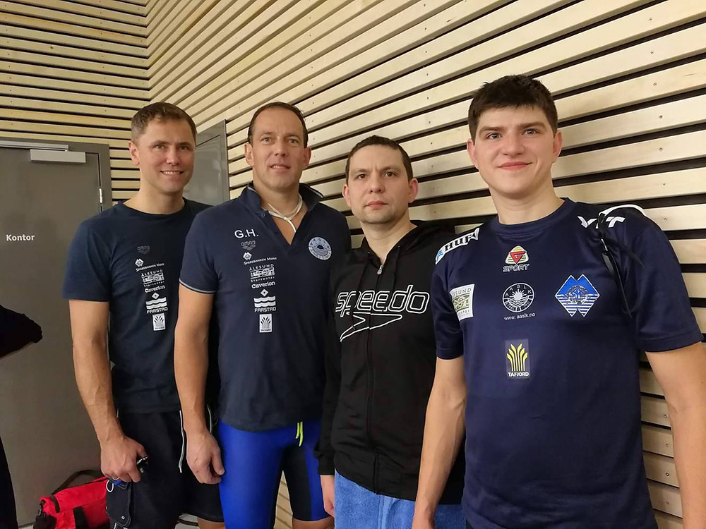F.v.: Are Kristoffer Hjeltnes, Gunnar Haagensen, Nikolajus Bagdanavicius, Vitalijus Bagdanavicius. Foto: Fred Karlsen
