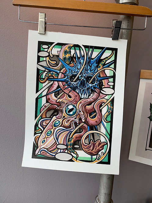 Squid Skull Print