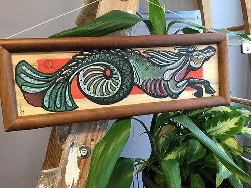 Seahorse wood panel